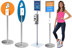 hand sanitizer dispenser stands